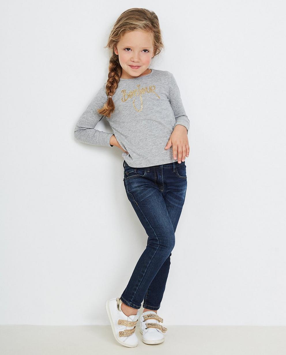 T-shirt à manches longues - bleu, paillettes, BESTies - Besties